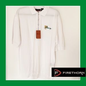 NWT Firethorn Men's White Polo Shirt